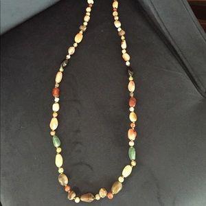 New Semi-Precious Stones Necklace -jade, agate etc